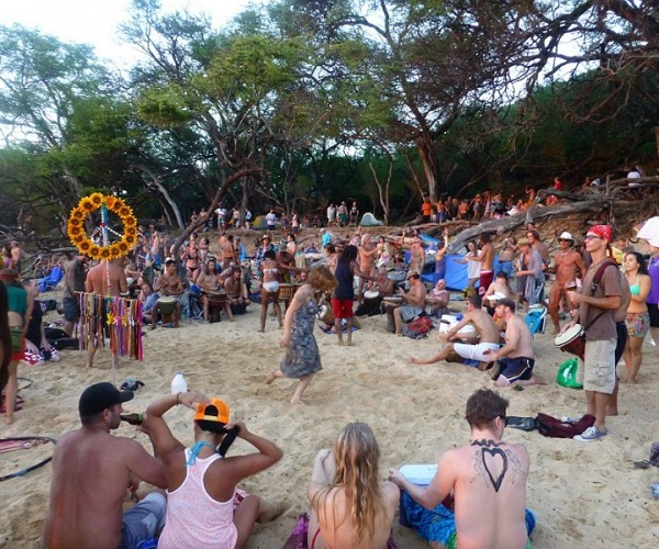 Sunset Party at Hippie Beach
