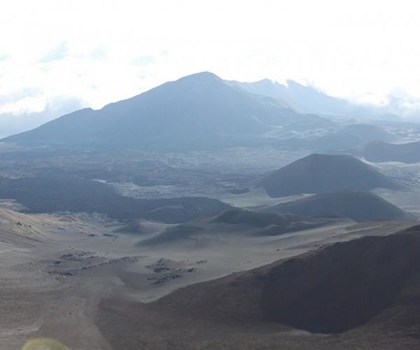 Dust over Haleakala Crater